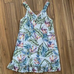 Divided Printed Flared Dress